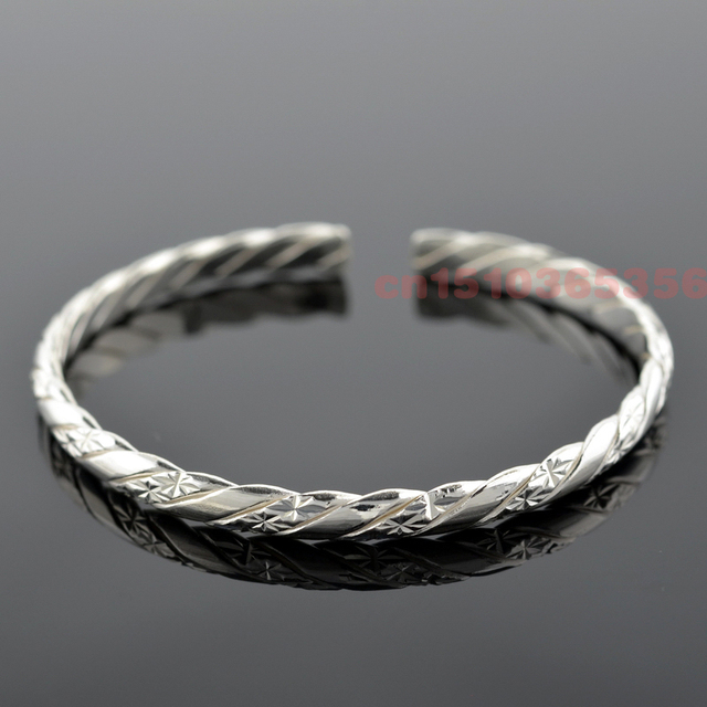 100% Genuine 999 Solid Sterling Silver Fashion Star Bracelets & Bangles Cuffs For Women Classic Fine Jewelry Free Shipping
