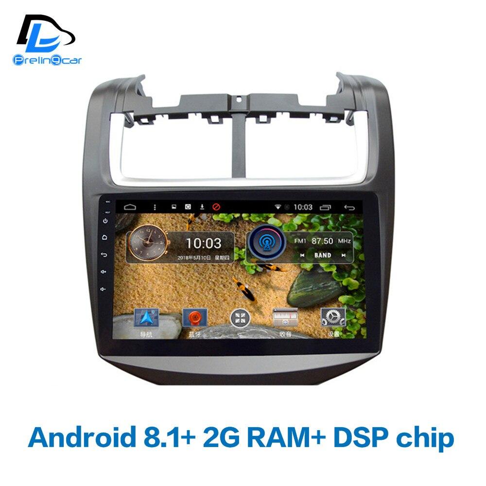 4G LTE wifi Android 8.1 voiture gps lecteur de radio vidéo multimédia dans le tableau de bord pour Chevrolet Aveo 2014-2018 ans navigation stéréo