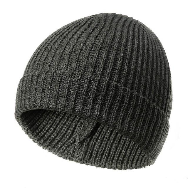 b9299462604 Fisherman Beanie Ribbed Hat Cap Winter Warm Turn Up Retro Mens Womens  Ladies Beanies Skullies