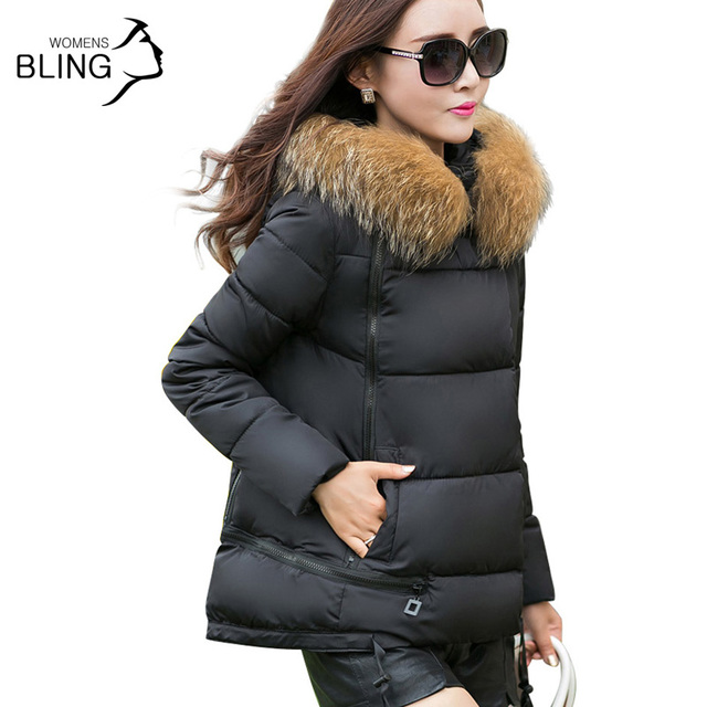Clearance 2016 Thickening Warm Winter Jacket Women Fur Collar Style Women's Long Down Plus Size Parka Hoodies casacas mujer