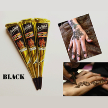 Body Paint Indian GOLECHA Henna Cones Black Color 1Piece Temporary Tattoo Kits Body Art Ink
