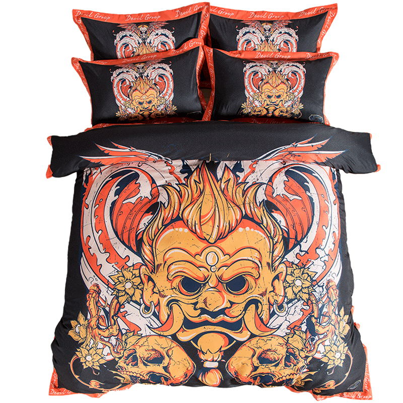 Exotic Totem Skull Bedding Sets Twin Queen King Size Duvet Cover Pillow Case Bed Sheets Adult Bedroom Set