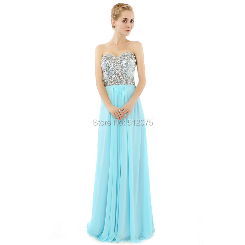 c23bde16ba5 Wholesale Landa Designs Ice Blue Prom Dresses For Woman Beads Split ...