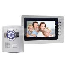 "DIYSECUR 7 ""TFT LCD Video Puerta Del Timbre Intercomunicadores Telefónicos 1 1 LED de La Cámara de Seguridad Del Monitor"