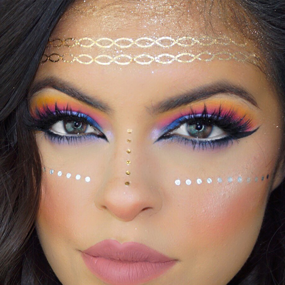 2PCS/LOT NEW Party Eyes Face Jewellery Gems Dazzling Temporary Tattoos face Art Dfferent Types 16cmx12cm