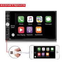 2Din Universal Car (no DVD) player Autoradio carplay 7car Radio stereo Bluetooth USB/SD Steering Wheel Control phone Double Din