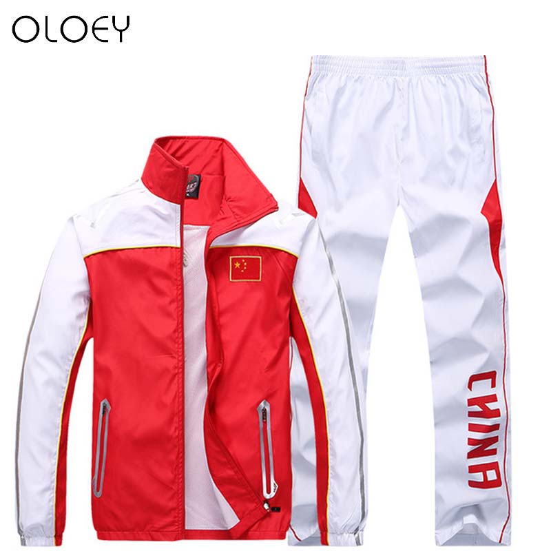 China Tracksuit Men Women Olympic Sport Suit Soccer Tracksuit Training Sweatsuit Mens Sweat Suits Joggers Outfits Plus Size