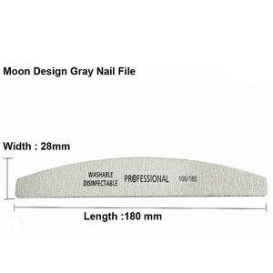 Image 2 - 50 ピース/ロット爪やすり 100/180 サンドペーパーサンディングバッファプロフェッショナルネイルファイルグレーボートサロン爪マニキュア UV ジェルのヒントツール
