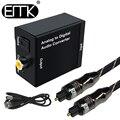 EMK аналоговый к цифровому Аудио ТВ конвертер адаптер Оптическое волокно коаксиальный Toslink сигнал аналоговый аудио конвертер RCA для DVD