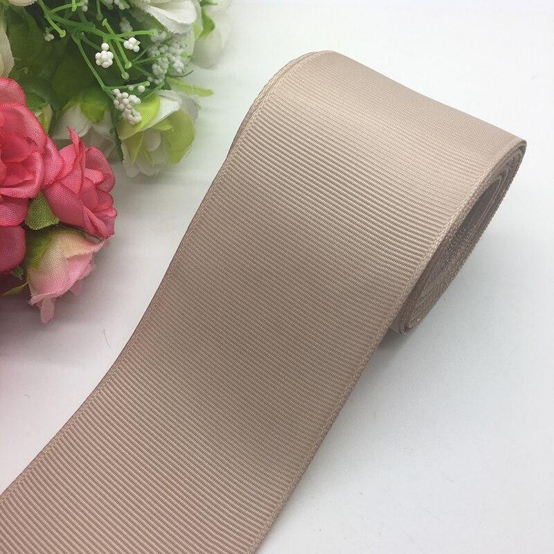 3 ярдов/партия 2 дюймов 50 мм широкий хаки Grosgrain ленты банты на голову Свадебные DIY ремесла