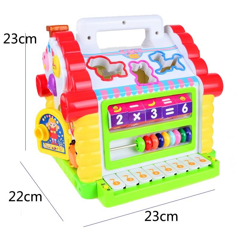BOHS maison d'amusement polyvalente-électronique et Musical-tri de formes géométriques et apprentissage des mathématiques-jouets éducatifs pour tout-petits - 4