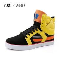 Botas Masculina Justin Bieber Shoes High Top Boots Hard Wearing Hip Hop Men Street Dance Personalized