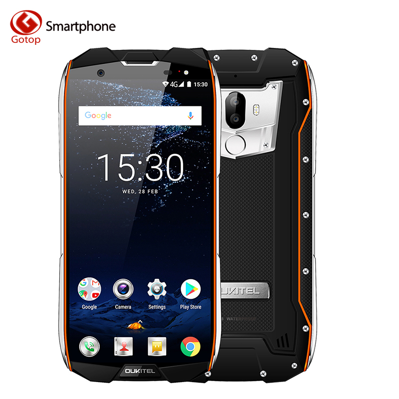 Oukitel WP5000 IP68 Waterproof 5.7 Inch 18:9 Display Android 7.1 Helio P25 Octa Core 6GB+64GB 5200mAh 4G Fingerprint Smartphone