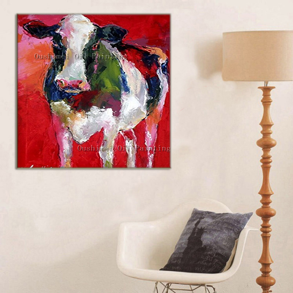 Hand Painted Modern Oil Painting Hang Paintings Modern Animals Art Picture Handmade Home Decor