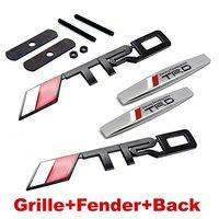 4pcs Sets AM81 TRD Racing Front Grille Black Fender Side Sticker Back Sticker Car Emblem Badge