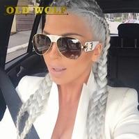 Old wolf мода medusa солнцезащитные очки женщины марка дизайнер пилот путешествия леди солнцезащитные очки 2017 горячее надувательство очки модели...