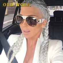Old wolf мода medusa солнцезащитные очки женщины марка дизайнер пилот путешествия леди солнцезащитные очки 2017 горячее надувательство очки модели стиль sg168