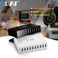 Quick Charger 10 ports EU Portable Mobile Phone Fast Charger for iPhone Samsung 5V2.4A 9V2A 12V1.5A Mobile Phone Smart Charger