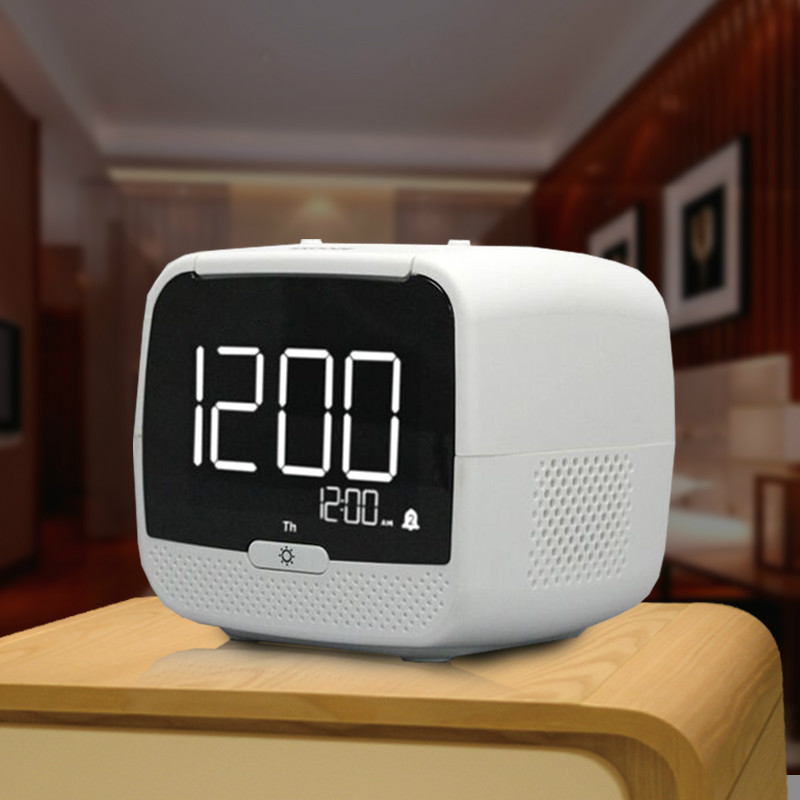 2017 new digital radio alarm clock luminova electronic creative bluetooth speaker thermometer. Black Bedroom Furniture Sets. Home Design Ideas