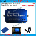 Hot sale ! Mini Gain 60dBi GSM 850MHz RF Repeater CDMA GSM Repetidor de sinal Celular Signal Booster Amplifier + Power Charger