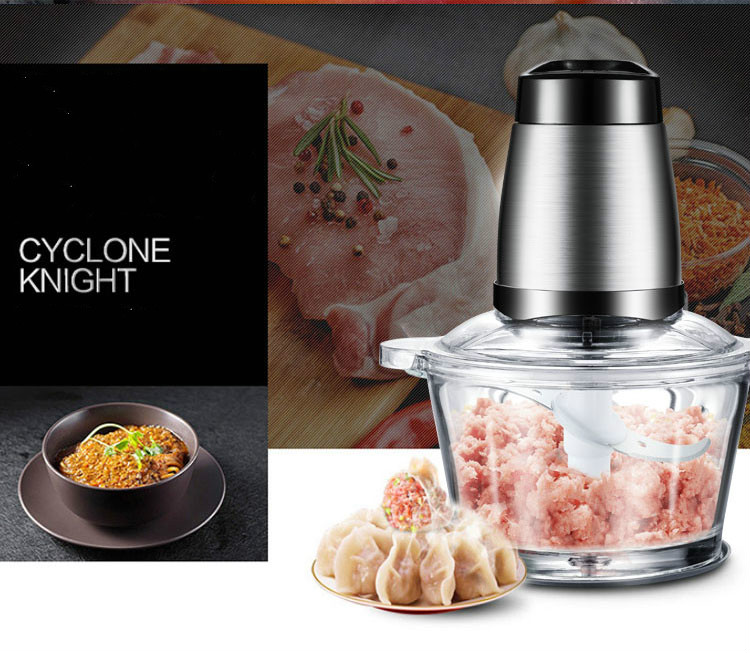 Coffee machine meat grinder USES electric stainless steel stuffing to whip and stir garlic cloves NEW