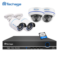 Techage 8CH 1080P POE NVR 2 0MP CCTV System Vandalproof Dome IP Indoor Camera P2P Waterproof