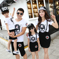 Cartoon Family Clothing 3XL 4XL Mother Daughter Father Son Clothes Family Set Mom and Daughter Dresses Parent-Child Sets KM18