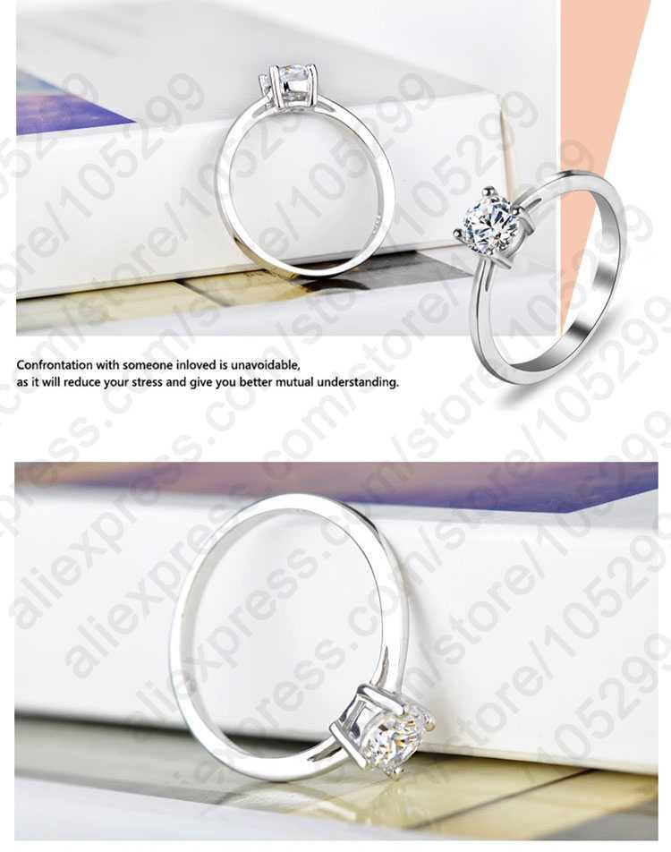 באיכות גבוהה 3 סגנונות AAA מעוקב Zirconia 925 כסף סטרלינג תכשיטי קלאסי אירוסין טבעת לנשים משלוח חינם
