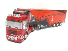 New US RC Truck Large Size Long Radio Control Truck Automatic Detachable Contrainer truck Model electronic