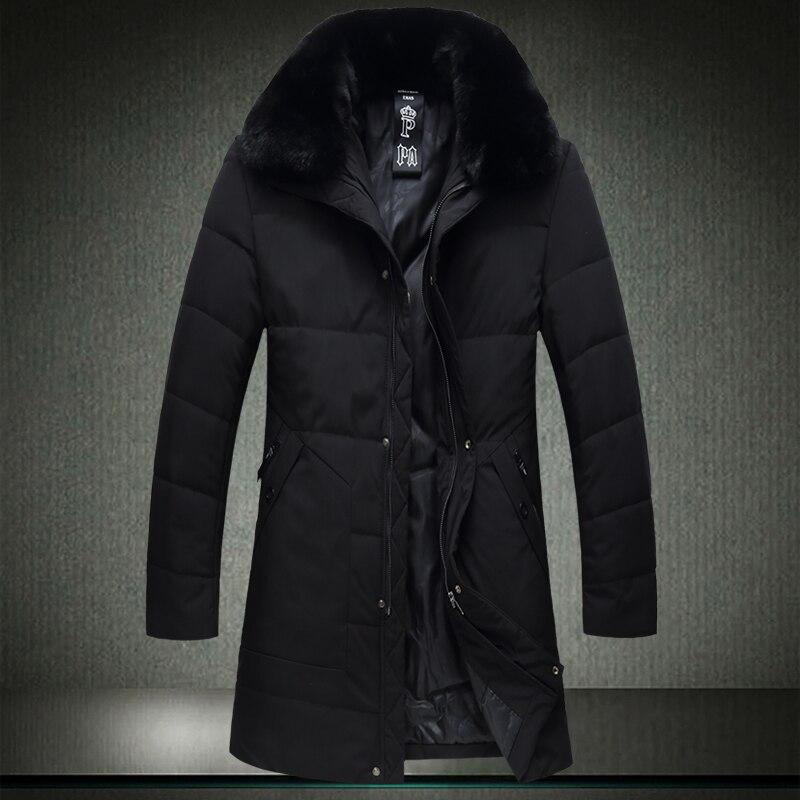 cc73efbda24 Негабаритных 7XL 6XL для мужчин зимняя длинная куртка 2019 зимние мужские  парки Хлопок Мужской ватные меховой