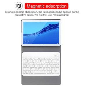 Image 4 - Caso de couro teclado para huawei mediapad m5 10 pro 10.8 CRM AL09 CRM W09 sem fio removível bluetooth capa funda