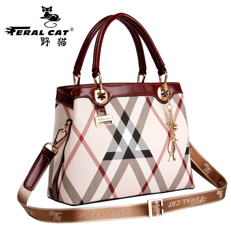 FERAL CAT Fashion PVC Leather Handbags Women Famous Brands Crossbody Bag Trunk Tote Designer Shoulder Culth Ladies Bolsos Mujer feral cat high quality women shoulder bags 2017 vintage pvc designer hobos handbag ladies crossbody bag culth zipper plaid bolso