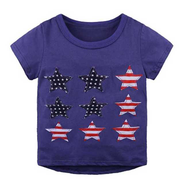 5cae53c8fcc9 New Children s T Shirt Boys T-shirt Baby Clothing Little Boy Summer Shirt  Cotton Tees Cartoon star Clothes boys pullover
