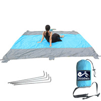 Beach Blanket Sand Free Compact Outdoor Beach Picnic Blanket Huge 9 X 10 For 7 Adults