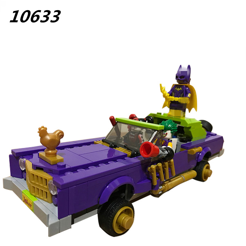 450pcs 10633 BATMAN MOVIE The Joker Notorious Lowrider Building Blocks DIY Bricks toys Gift for children 70906 gonlei new 610pcs 10634 batman movie the batmobile building blocks set diy bricks toys gift for children compatible lepin 70905