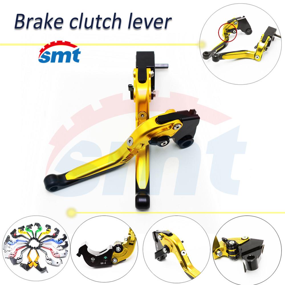 New Motorcycle CNC Folding&Extending Brake Clutch Levers Golden For BMW R1200GS 2004 2005 2006 2007 2008 2009 2010 2011 2012 motorcycle new cnc billet short folding brake clutch levers for bimota db 5 s r 1100 2006 11 07 09 10 db 7 1100 db 8 1200 08 11
