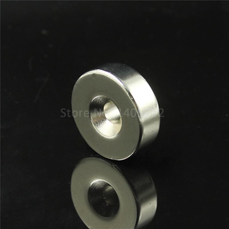 1pcs 50 x 20mm Hole: 10mm super Strong Round Neodymium Countersunk Ring Magnets Rare Earth N50 Free Shipping qs 3mm216a diy 3mm round neodymium magnets golden 216 pcs