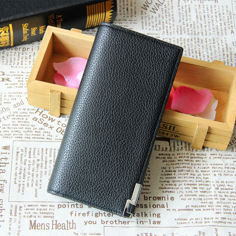 New Bifold Men Wallet Brand Famous Mens Leather Long Wallets Clutch Male Money Purse ID Card Holder Carteira Masculina gift 2017 designer 2017 new mens ostrich wallet men clutch wallet cowhide genuine leather zipper long male purse phone holder famous brand