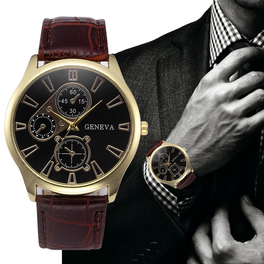 Мужские кварцевые часы, новые роскошные брендовые часы, модные часы с кожаным ремешком, дешевые спортивные наручные часы, мужские часы 533