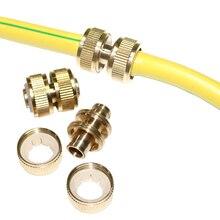 Las juntas de reparación de tuberías de cobre se alargan y se extienden 1/2 juntas de tubería para lavado de coches pistola de agua accesorios de tubería conector de manguera de jardín