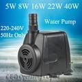 Super bomba de agua para el acuario, 5 W/8 W/16 W/22 W/40 W acuario bomba de pecera, bomba de circulación de agua para construir acuático