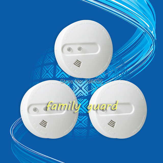 Free Shipping! 3 pcs Independent smoke alarm wireless smoke detectors