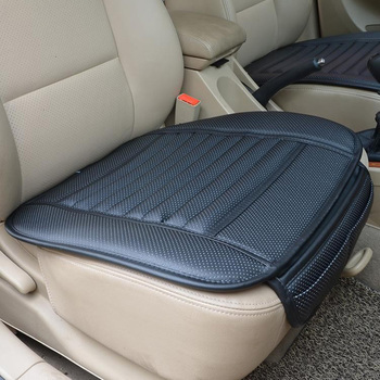 Car Seat Cover Styling Four Seasons Leather Breathable Car Interior Seat cover Pad Seat Cushion Car Front Back Seat Cover цена 2017