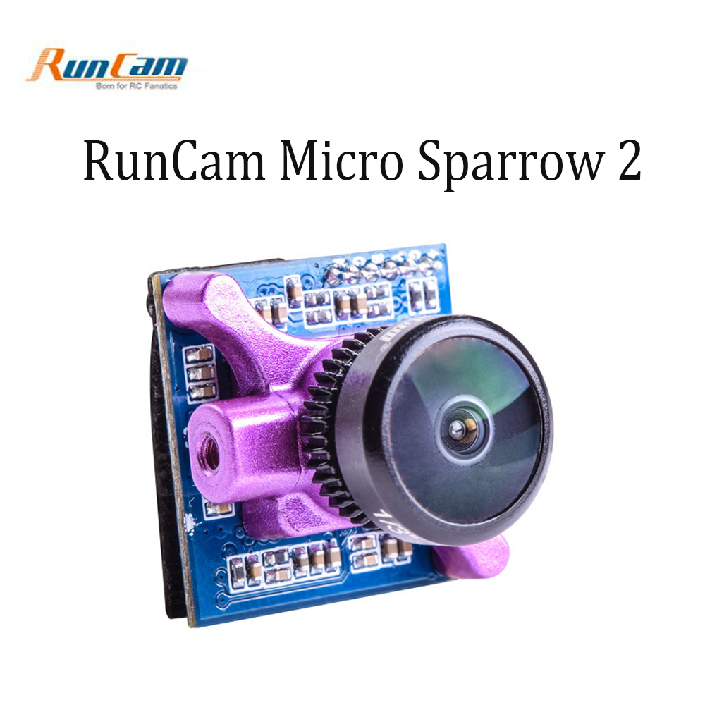 RunCam Micro Sparrow 2 FPV Camera Super WDR CMOS Sensor PAL 5-36V Lens 2.1mm 4:3 for FPV Quadcopter Racing Drone aomway 700tvl hd 1 3 cmos fpv camera pal