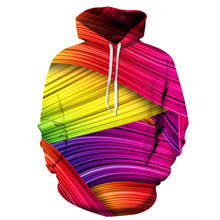 Mr.1991INC New Fashion Autumn Winter Thin 3d Sweatshirts Men/Women Hooded Hoodies Print Colorful Striped Hoody Pullover