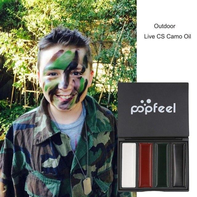 Pompfell cuerpo pintura vive CS Camo camuflaje aceite cara pintura colorete ejército ventilador al aire libre rojo Drama aceite