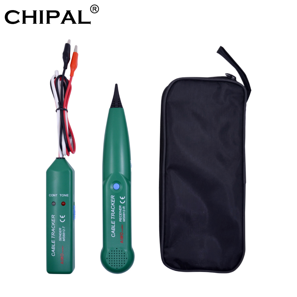 CHIPAL Professional AIMO MS6812 LAN Network Cable Tester for UTP STP Cat5 Cat6 Telephone Phone Wire Tracker Tracer Line Finder(China)