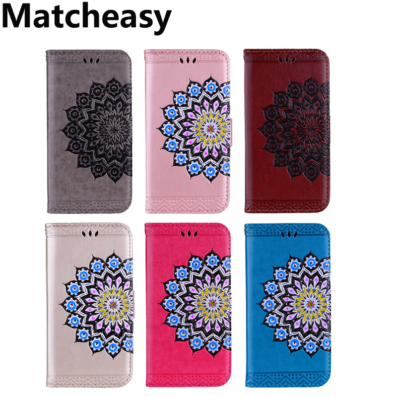 Matcheasy Flower Leather Wallet Phone Bag Cases For iPhone 6s 6 For iPhone X 8 7 6s Plus C