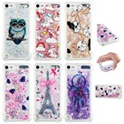 Phone cases Glitter Girls Mandala Flower Liquid Quicksand Shockproof for Apple ipod touch 5 touch 6 Cover