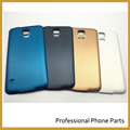 Original Rear Battery Cover Door For Samsung Galaxy S5 Housing Back Case Mobile Phone Parts +Logo, Black White Blue Gold Color